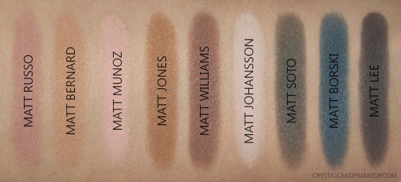 TheBalm Meet Matt(e) Ador Eyeshadow Palette Swatches