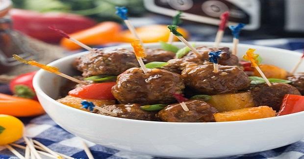 Slow Cooker Pineapple Brown Sugar Meatballs Recipe