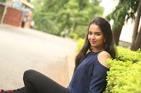Poojita Super Cute Smile in Blue Top black Trousers at Darsakudu press meet ~ Celebrities Galleries 074.JPG