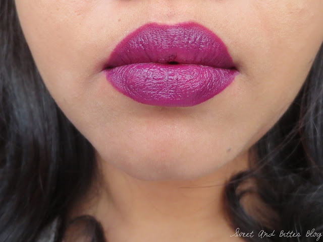 Nykaa So Matte! Lipstick Mischievous Plum 10 M Swatch