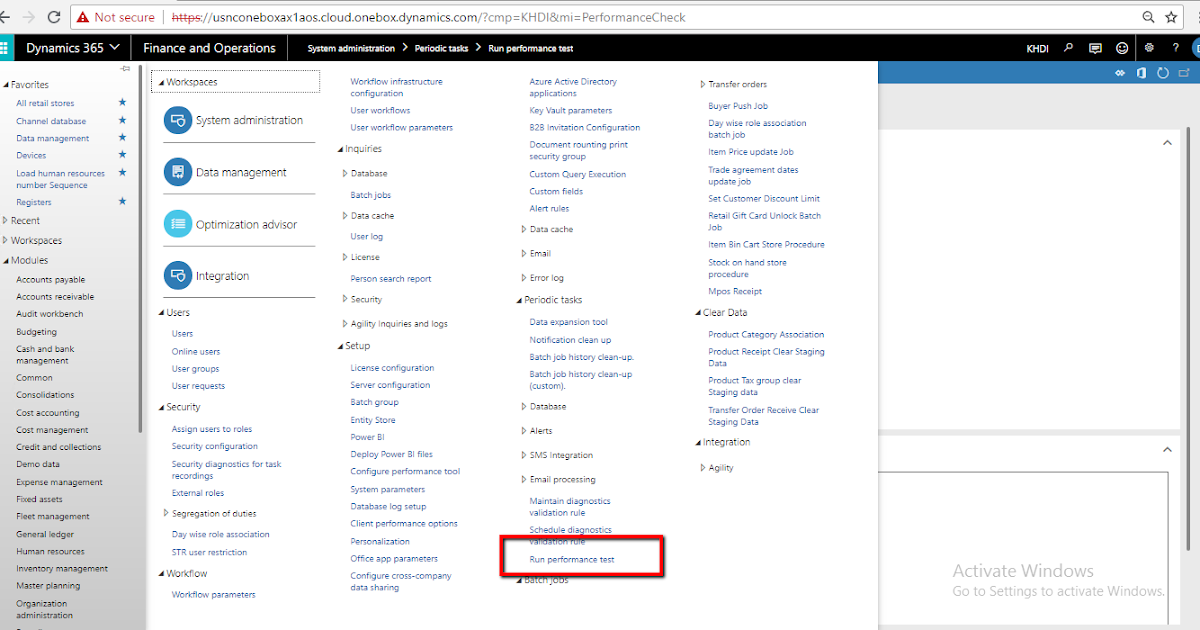 Dynamics AX Technical World: Performance Tool in D365FO