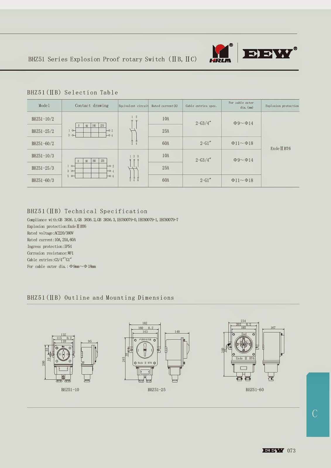Explosionproof Marketing Jual Rotary Switch Explosion