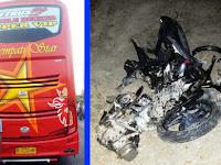 Kecelakaan Beat vs Bus Sempati Star, 2 meninggal dunia, sepmor sampai terbakar
