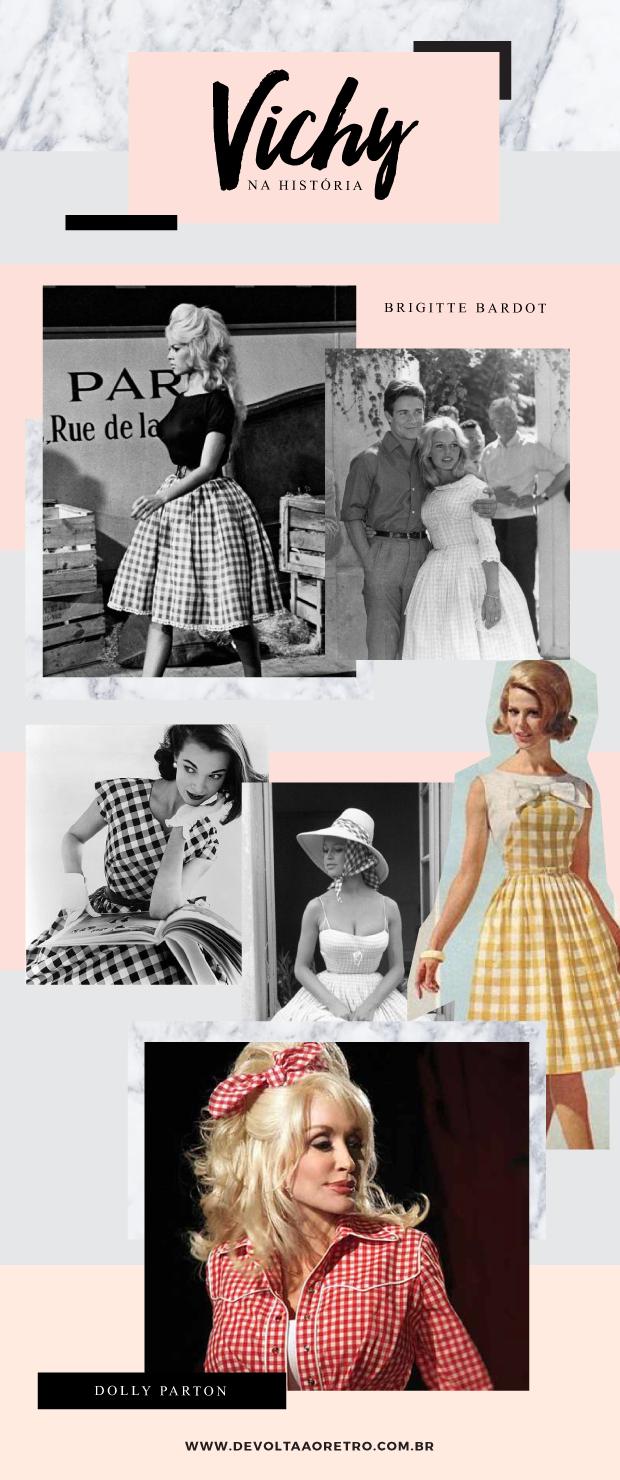 Vichy na história da moda, Gingham, moda vintage