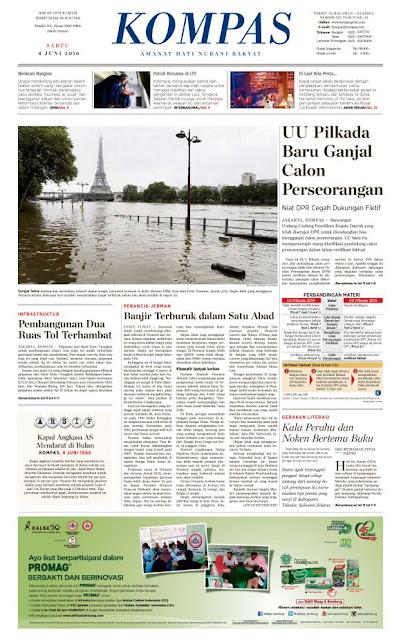 Kompas Edisi Sabtu 4 Juni 2016