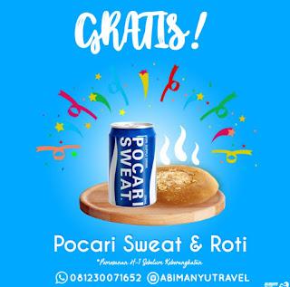 Free Pocari dan Roti