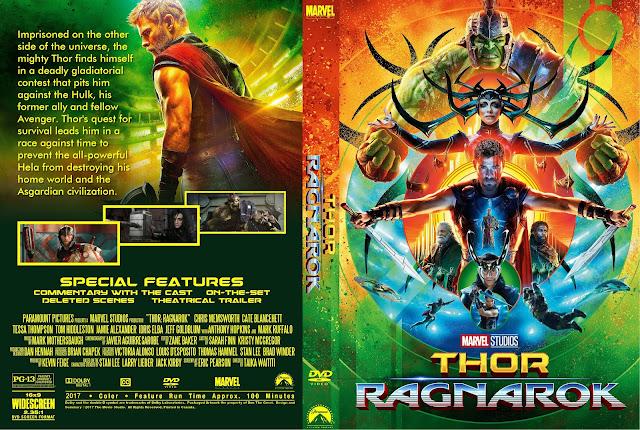 Thor Ragnarok DVD Cover