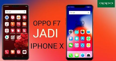 download tema iPhone X di OPPO F7