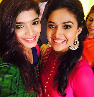 Keerthy Suresh in Pink Dress with Cute and Lovely Smile