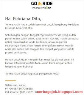cara mendaftar gojek online