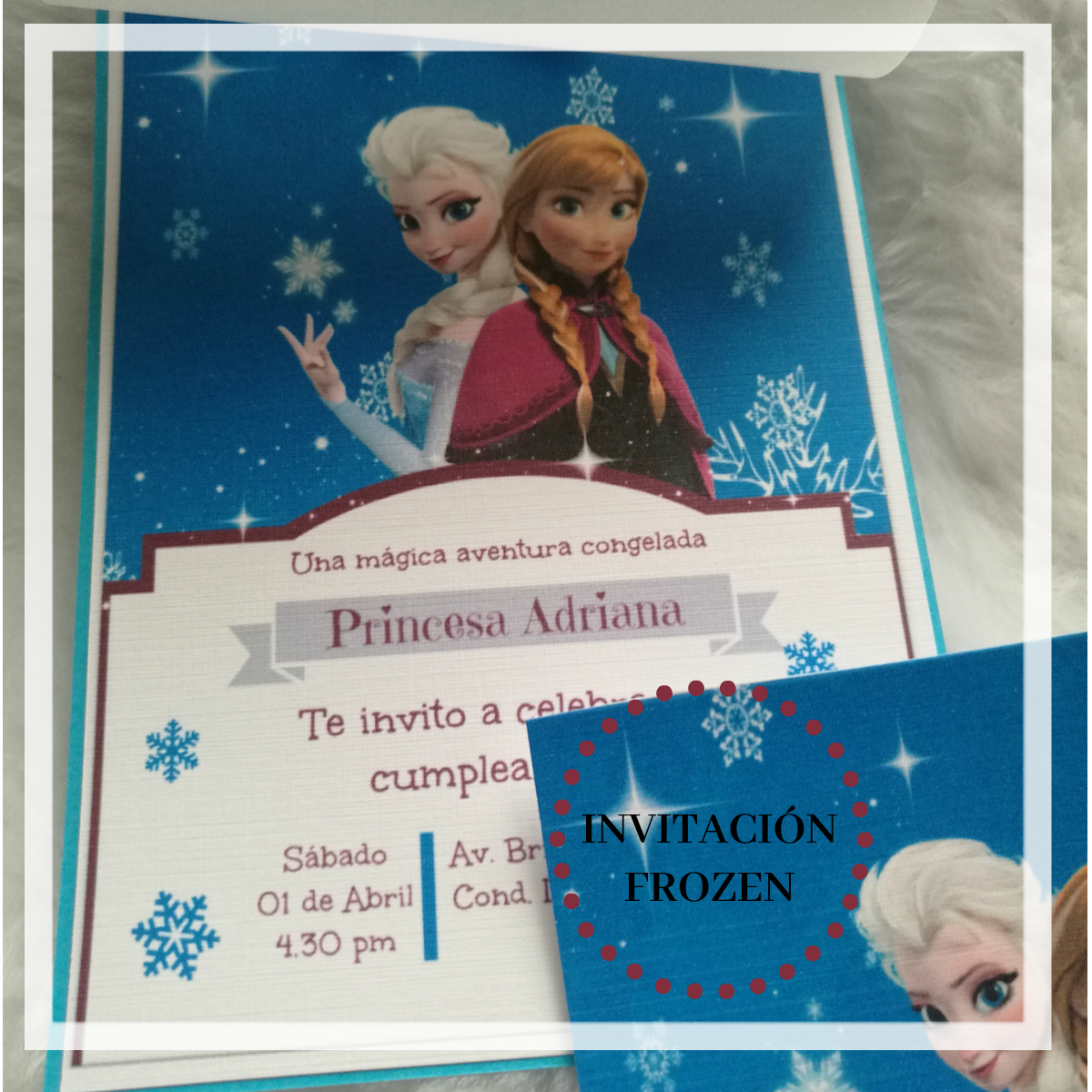 Mama Y Belleza Blog Tarjeta Frozen
