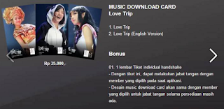 Love Trip - Music Download Card
