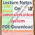 Lecture Notes on Communication system PDF Download