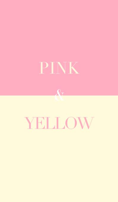 pink & yellow .