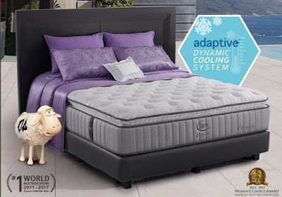 Adanya fitur Adaptive Dynamic Cooling System, yang menjaga suhu permukaan matras tetap dingin dan nyaman sehingga membuat kita tetap dalam zona nyaman saat tidur lebih lama.  Kenyamanan permukaan matras saat tidur sangat mempengaruhi kualitas tidur supaya kita berada di dalam zona nyaman tidur.