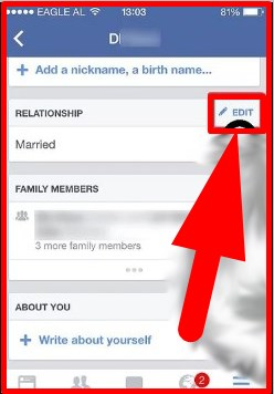how to change relationship status on facebook phone app