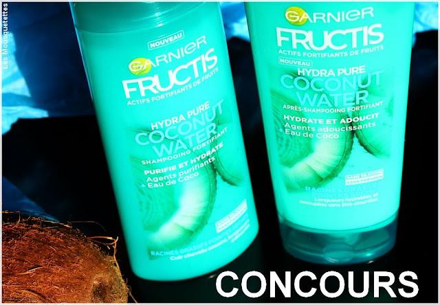 Hydra Pure Coconut Water Fructis de Garnier - Cheveux mixtes - Blog beauté