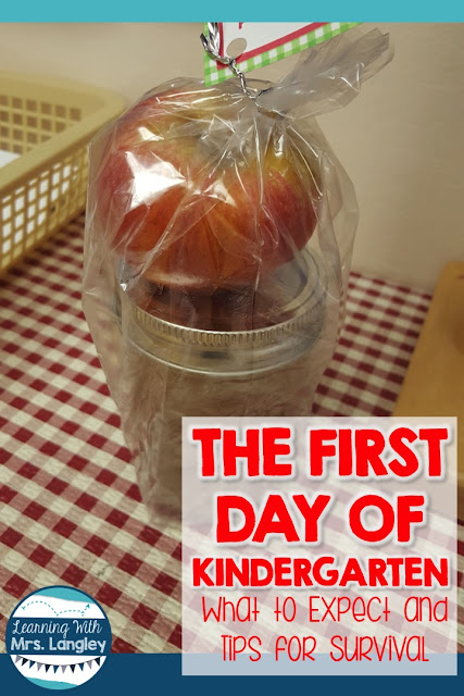 What does the first day of kindergarten really look like? Be ready for the first day with activities, a name tag free file, craft, and reasonable expectations. Have a successful first day in preschool kindergarten or 1st grade!