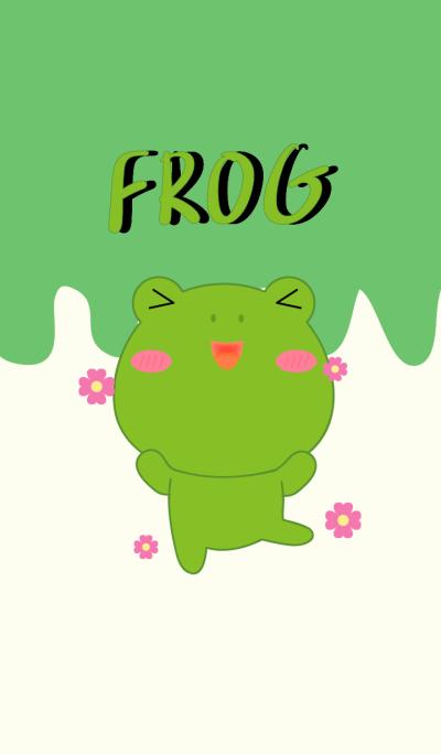 I Love So Cute Frog theme
