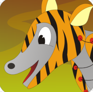 Android app illustration for the donkey in the tiger's skin