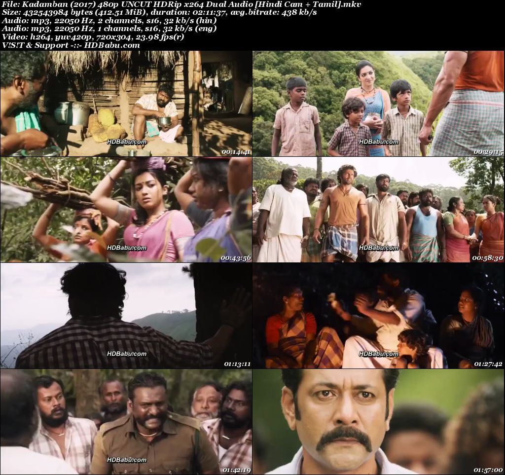 Kadamban (2017) 480p UNCUT HDRip x264 Dual Audio [Hindi Cam + Tamil] Screenshot