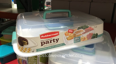 Rubbermaid The Ultimate Party Serving Kit - Store and serve your party treats all in one easy-to-carry kit
