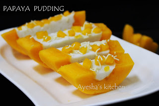 PAPAYA PUDDING