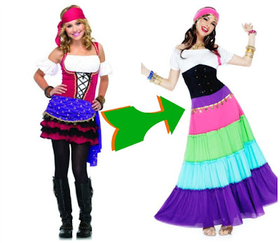 modest gypsy Halloween costumes
