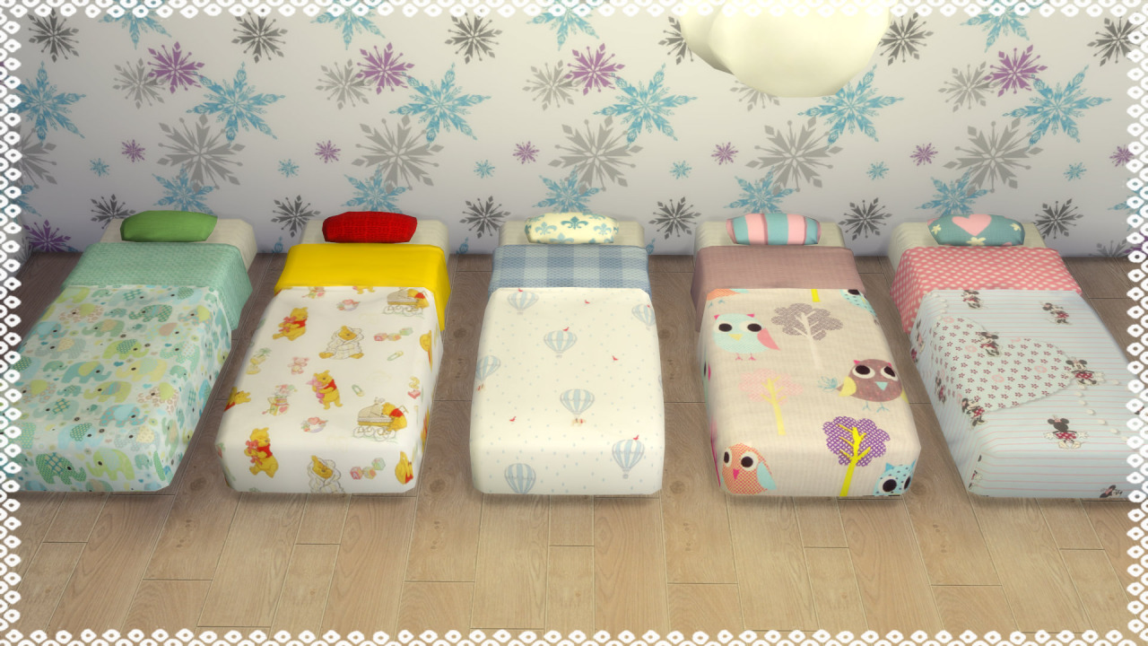 My Sims 4 Blog Toddler Mattress Recolors By Tatschu
