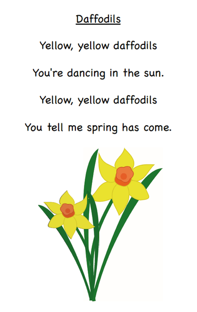 A collection of April poems. Perfect for first grade and kindergarten. Free from GradeONEderful.com.