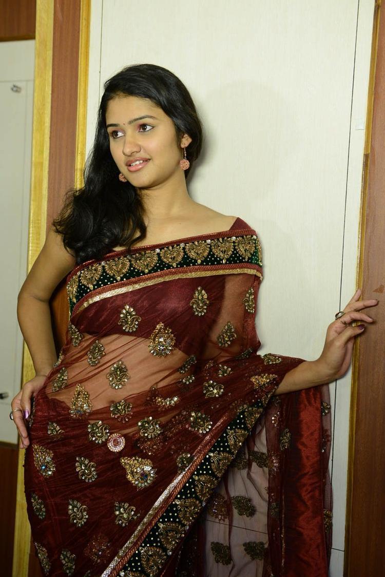 Transparent Saree: Dressing Below Navel Saree: Kowsalya Transparent Saree Navel