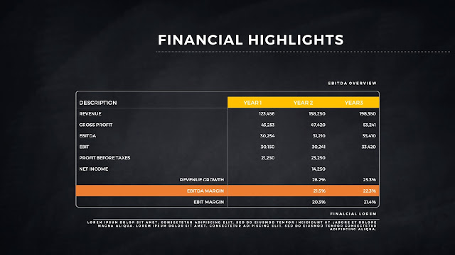 Financial Highlights And Infographic Elements in Free PowerPoint Template Slide 9