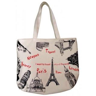 Bolso de moda de tela Paris