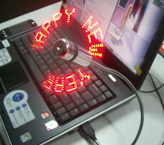 Buy Colorful USB LED Flexible Fan With Custom Message Online In Pakistan