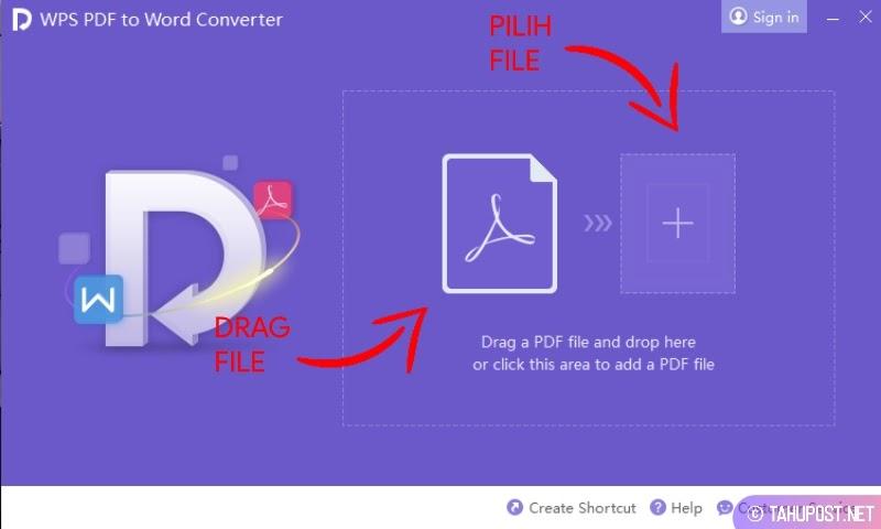Cara Mengubah File PDF ke Word di HP Laptop Online Offline - Drag atau Pilih File PDF