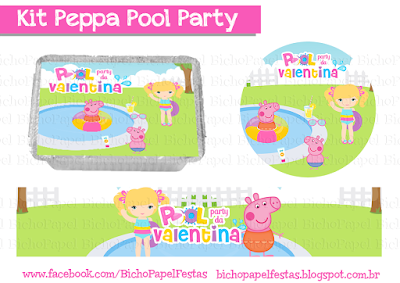 Kit Peppa Pool Party  Festa na Piscina