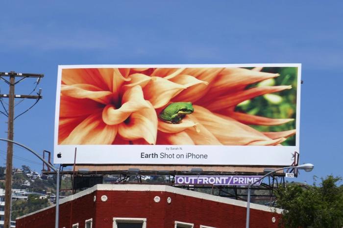 Earth Shot on iPhone Sarah N Frog billboard
