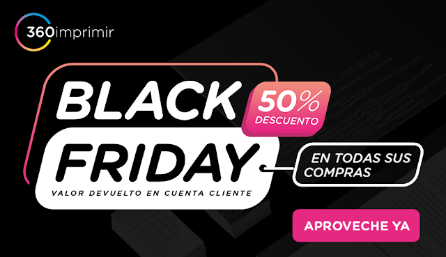 Promoción black friday 360imprimir