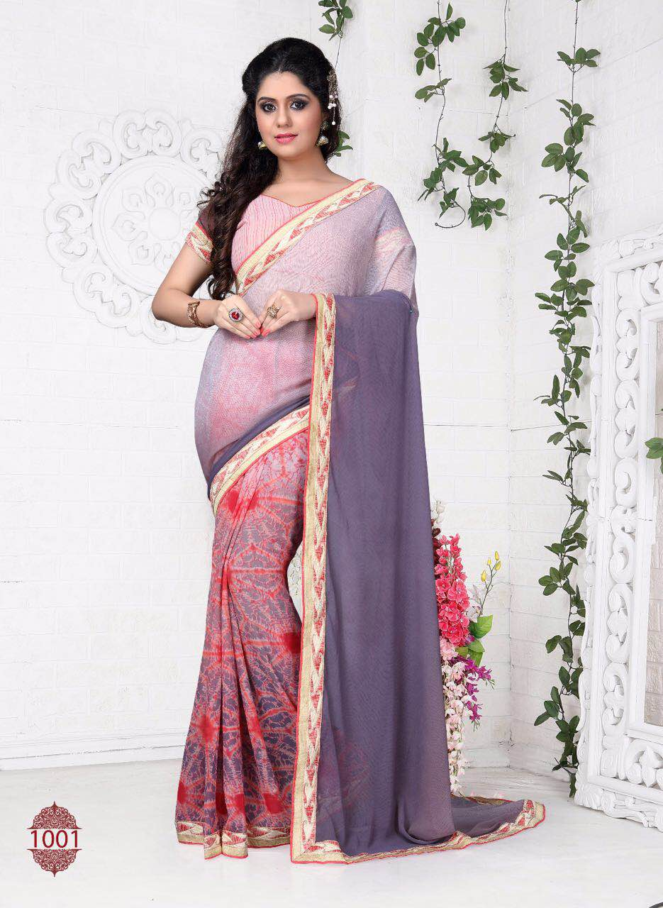 Shivay – New Georgette Saree Collection Buy Online With Wholesale Price