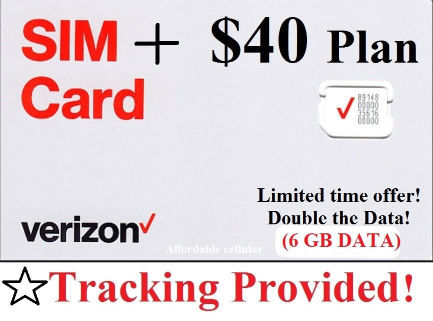 Verizon $60 To go or Monthly Prepaid Refill Card mail delivery