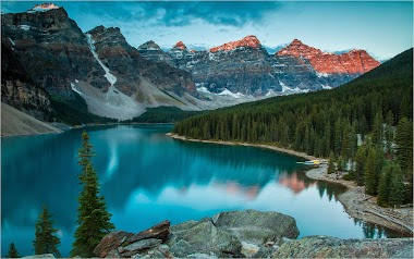 Trip through the Lakes in Rocky Mountains of Canada