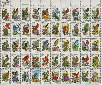 Estados Unidos: Aves y flores 1982