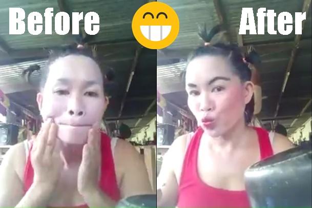 VIDEO: Tampil Cantik Tak Perlu Mahal, Lihat Nih Ibu Ini Dandan Pakai Odol dan Panci Gosong