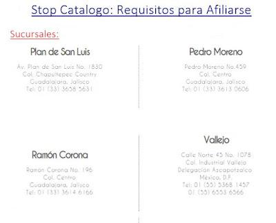 sucursales de stop catalogo