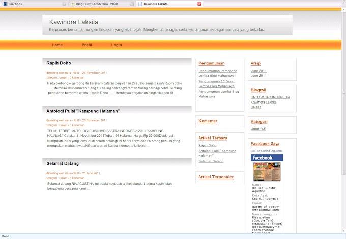 Kawindra Laksita : Blog Pribadi Dengan Domain Unair