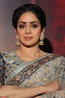 Sri Devi in designer saree stunning beauty at the launch of MOM movie Trailer~  Exclusive 095.JPG