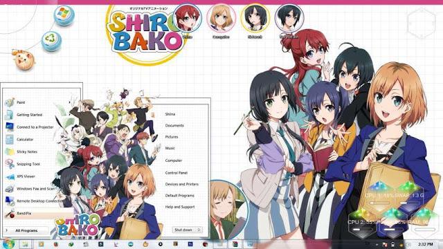 Shirobako Theme Win 7 by Bashkara