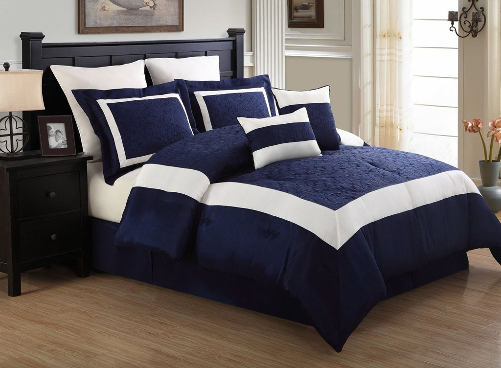 blue bedroom set navy blue and white comforter and bedding sets 10880