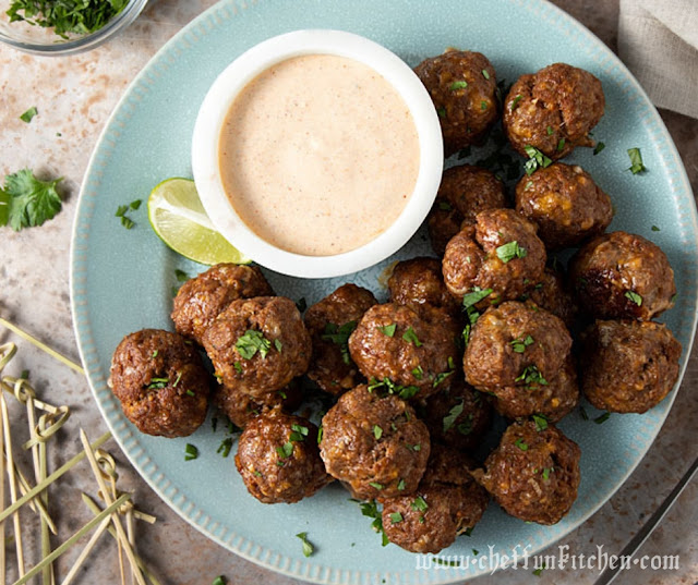 Taco Ranch Meatballs