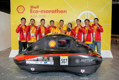 Mahasiswa UGM  juara di Shell Eco Marathon 2018